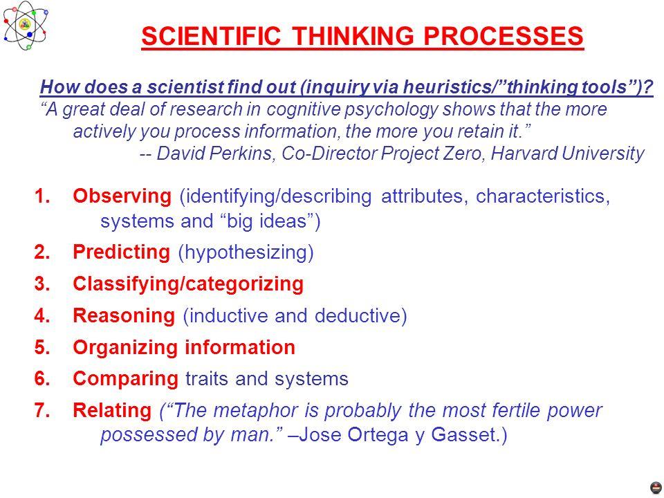 SCIENTIFIC THINKING PROCESSES
