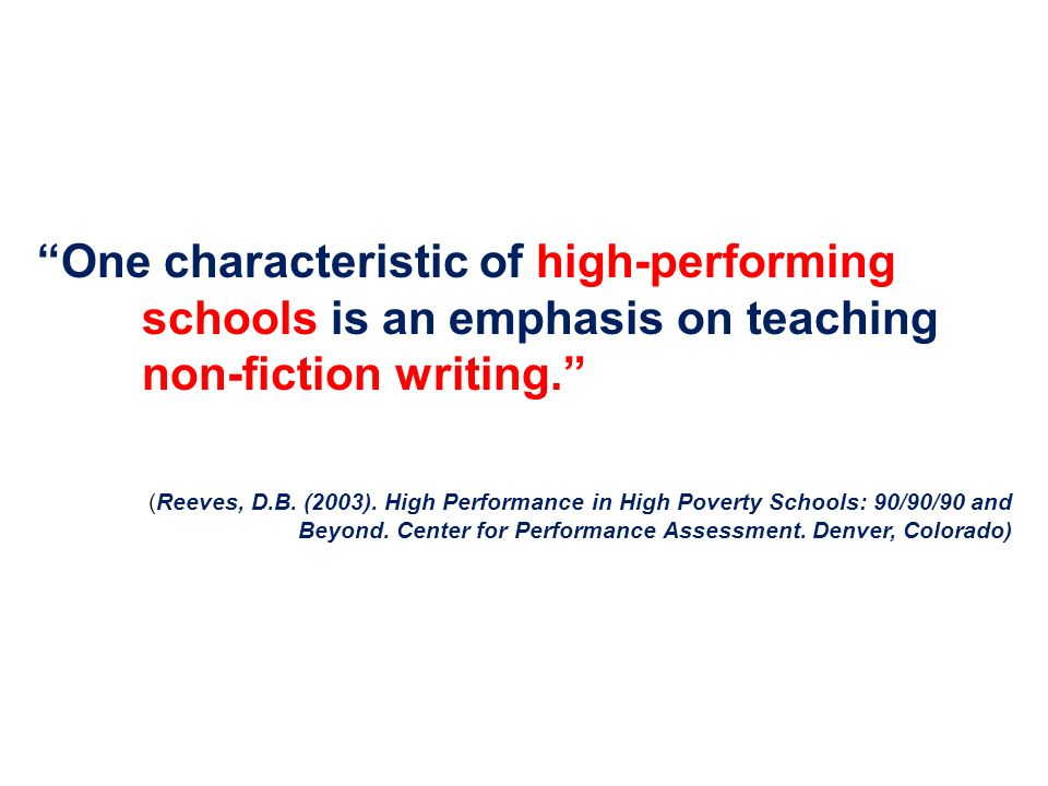 One characteristic of high-performing