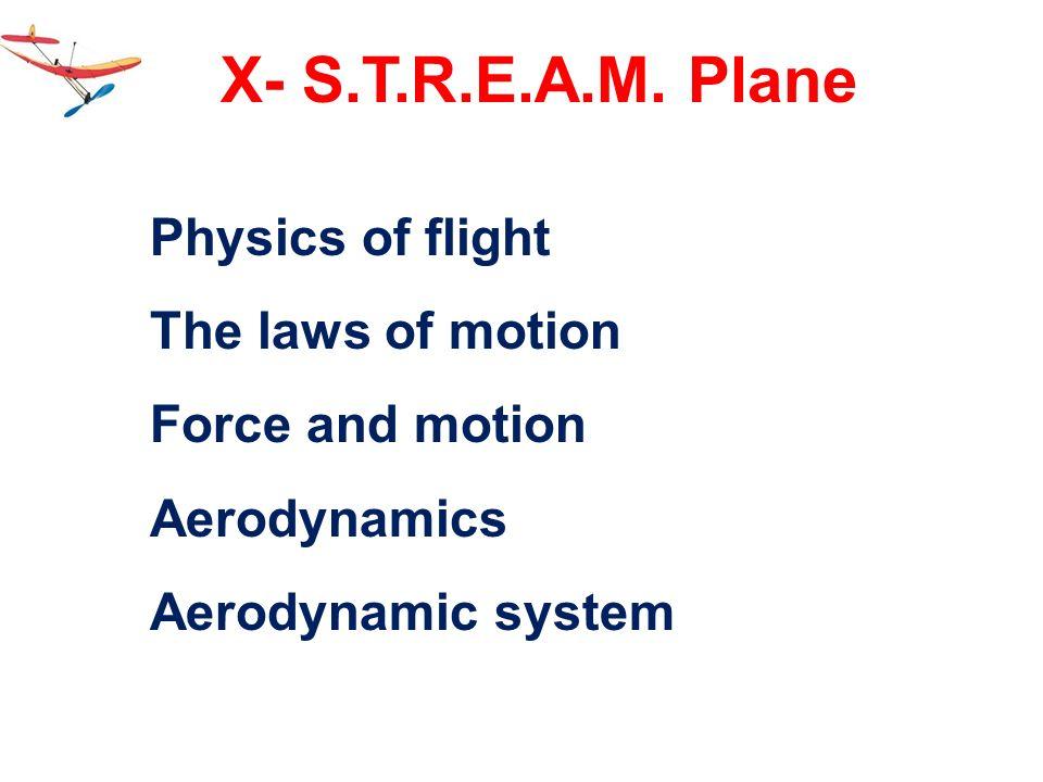 X- S.T.R.E.A.M. Plane Physics of flight The laws of motion