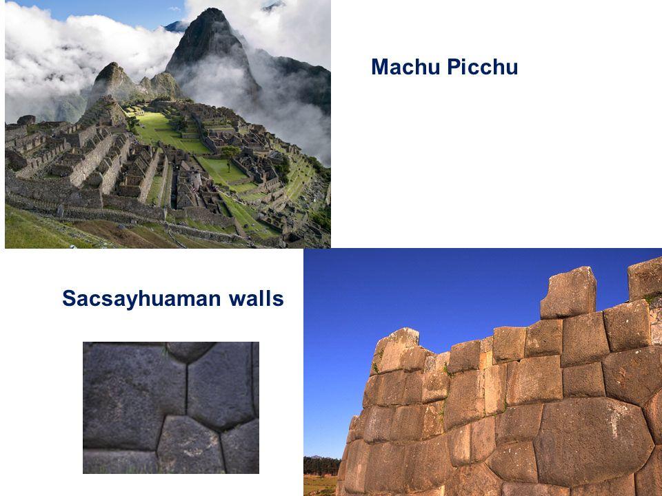 Machu Picchu Sacsayhuaman walls