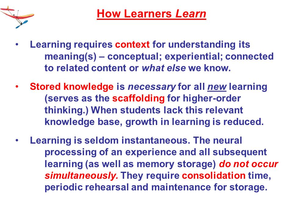 How Learners Learn