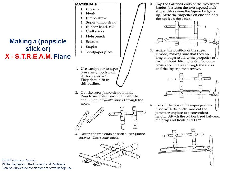 Making a (popsicle stick or) X - S.T.R.E.A.M. Plane