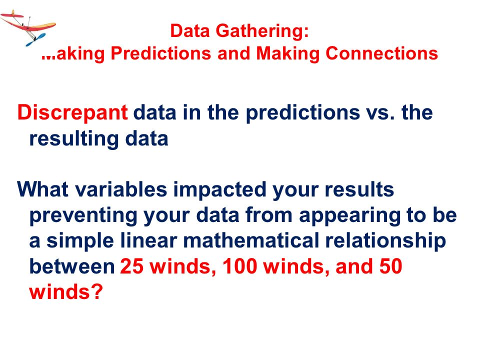 Making Predictions and Making Connections