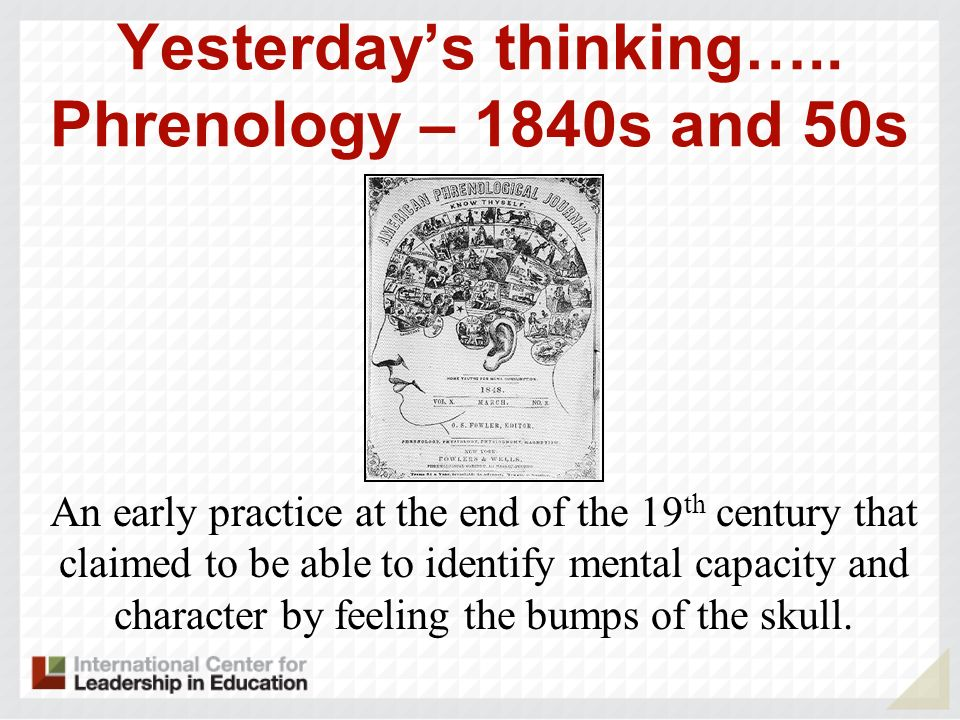 Yesterday's thinking….. Phrenology – 1840s and 50s