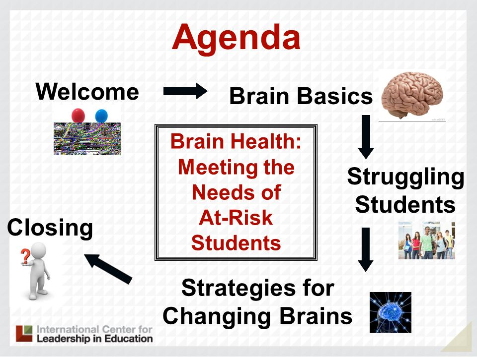 Agenda Welcome Brain Basics Struggling Students Closing