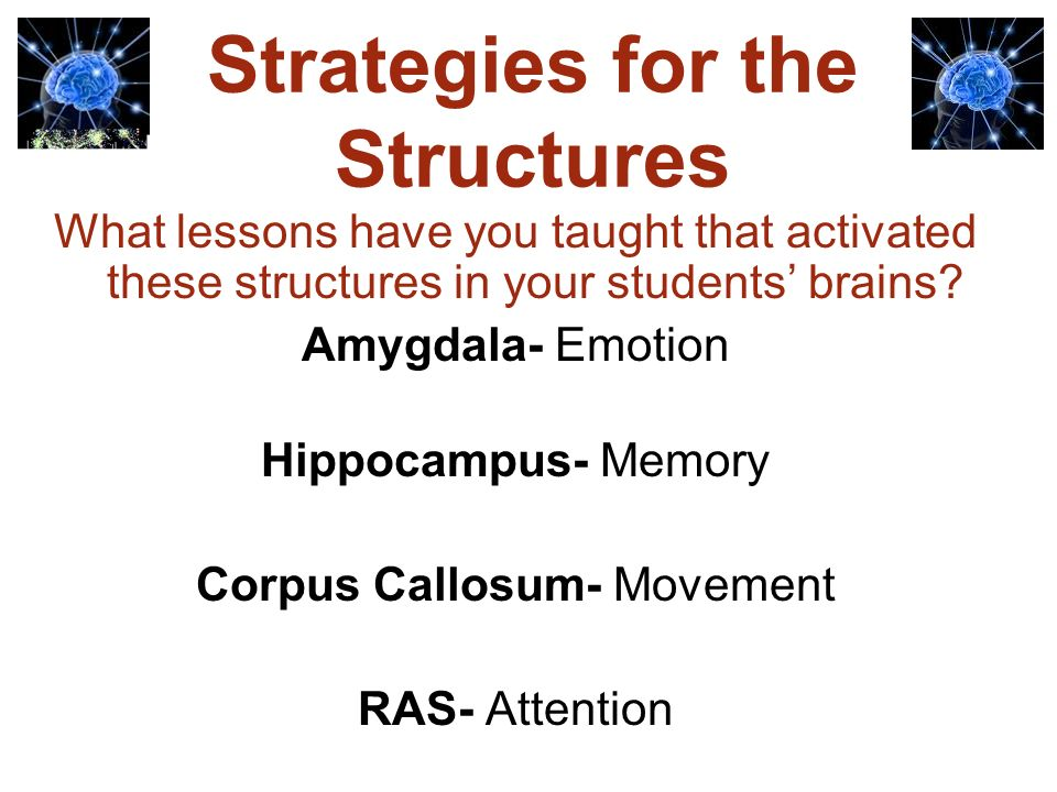 Strategies for the Structures