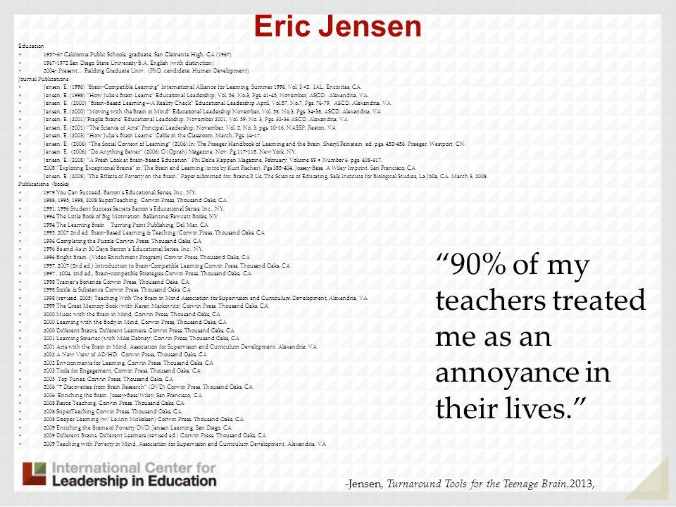 90% of my teachers treated me as an annoyance in their lives.