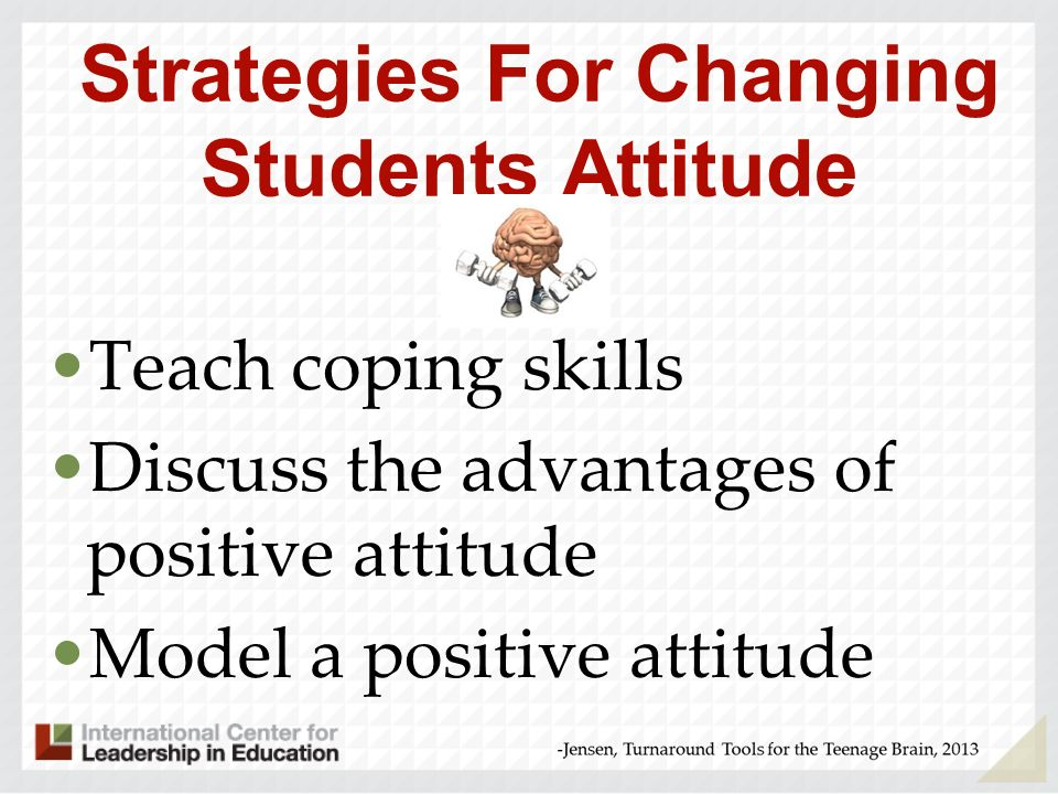 Strategies For Changing Students Attitude