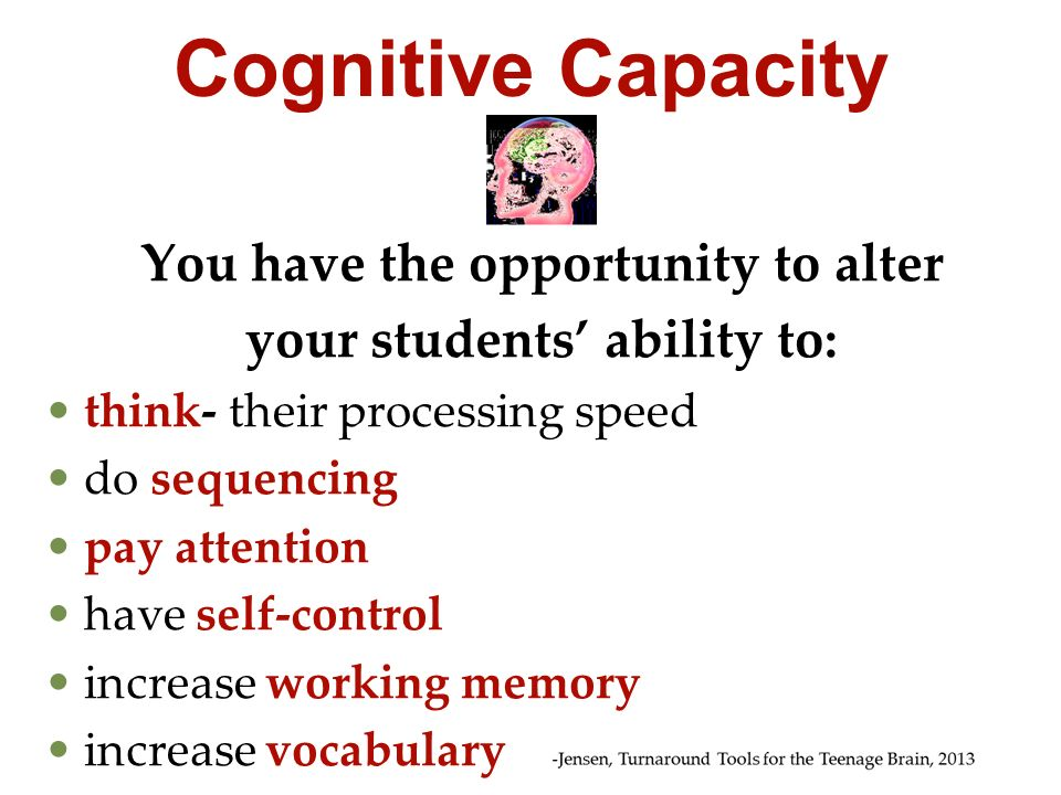You have the opportunity to alter your students' ability to:
