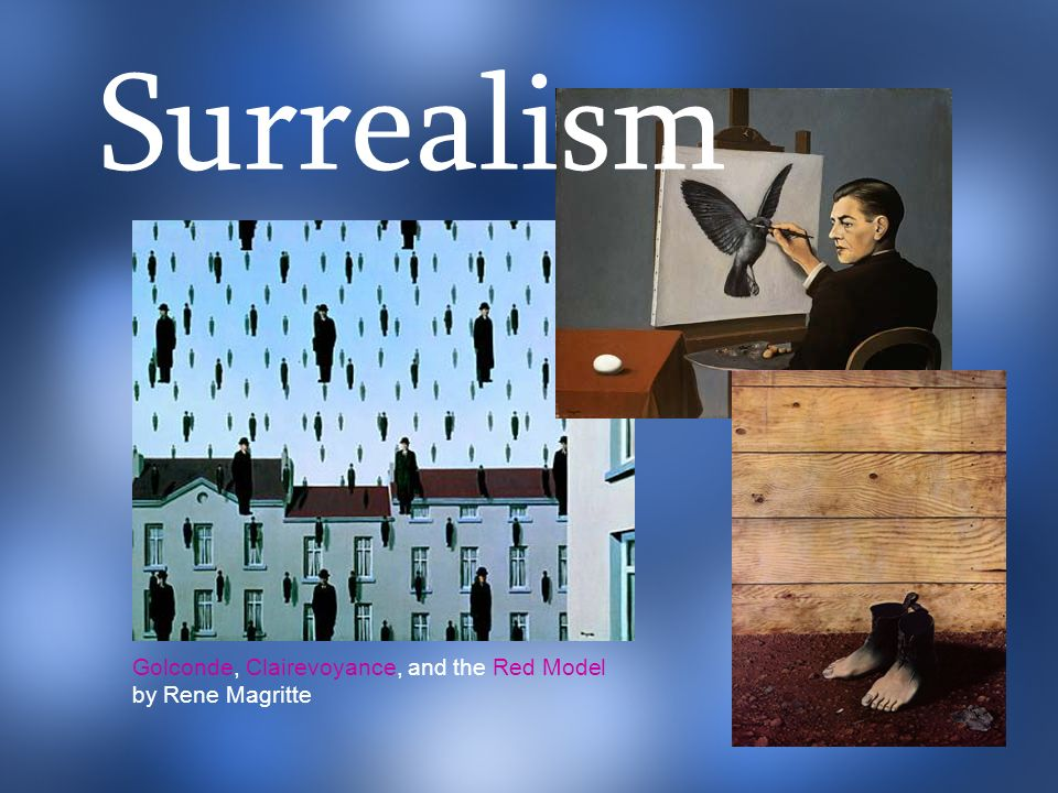Surrealism Golconde, Clairevoyance, and the Red Model by Rene Magritte