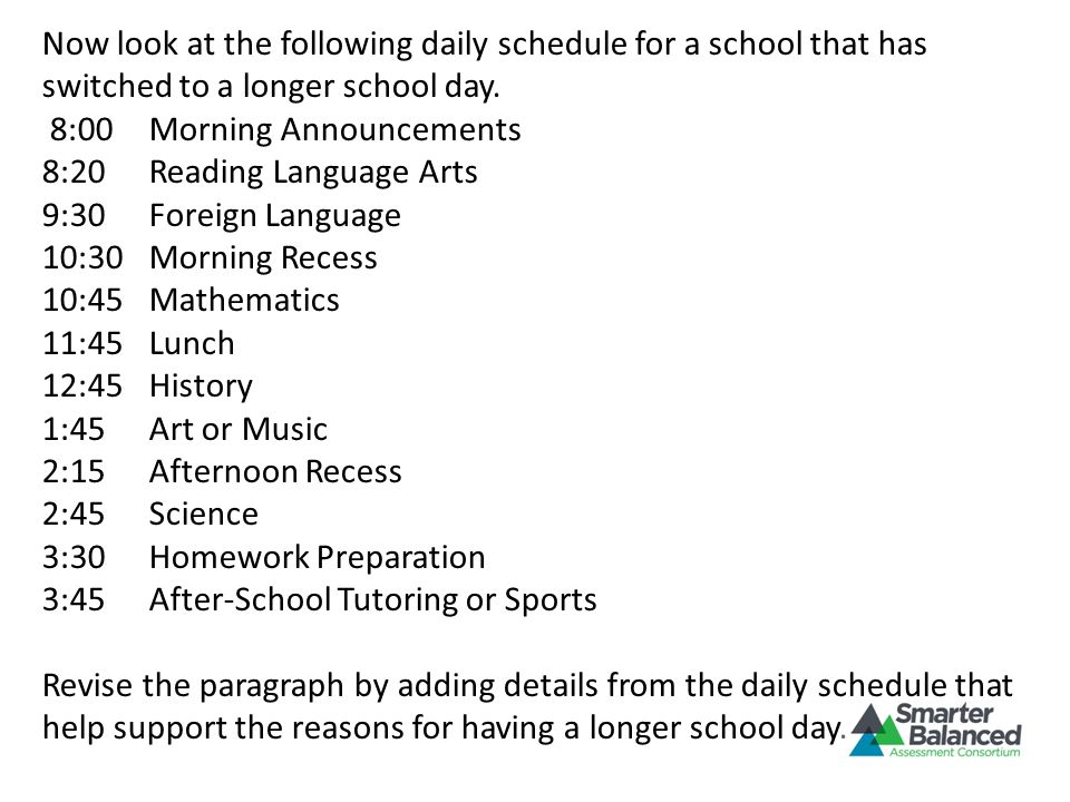 8:00 Morning Announcements 8:20 Reading Language Arts