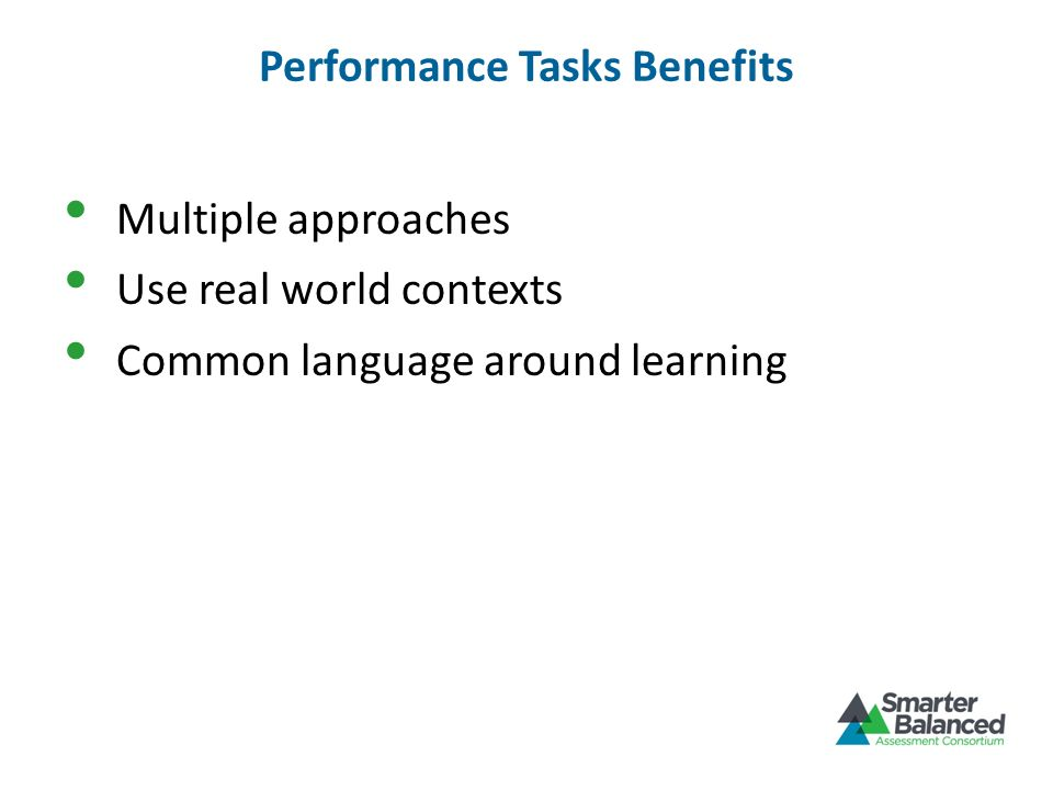 Performance Tasks Benefits