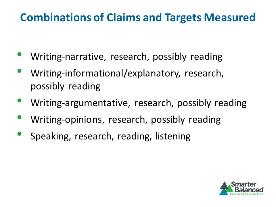 Combinations of Claims and Targets Measured