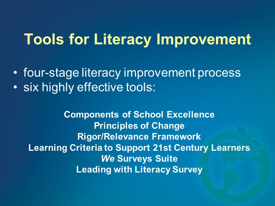 Tools for Literacy Improvement