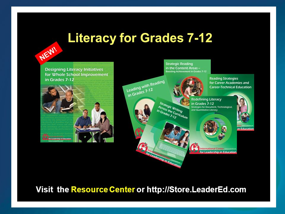 Visit the Resource Center or http://Store.LeaderEd.com