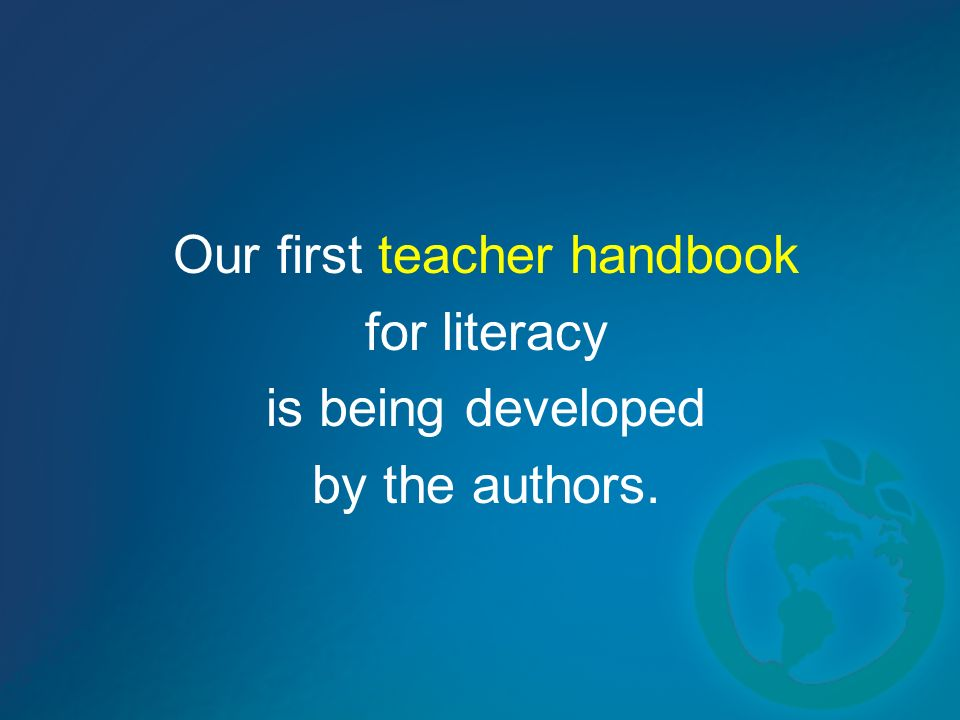 Our first teacher handbook