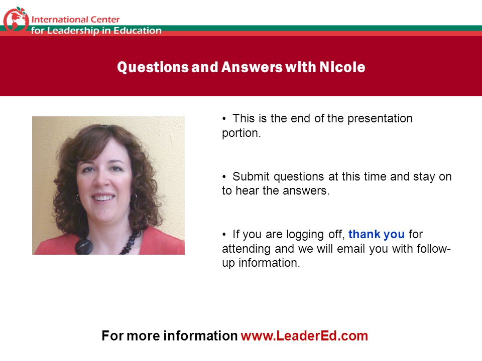 Questions and Answers with Nicole