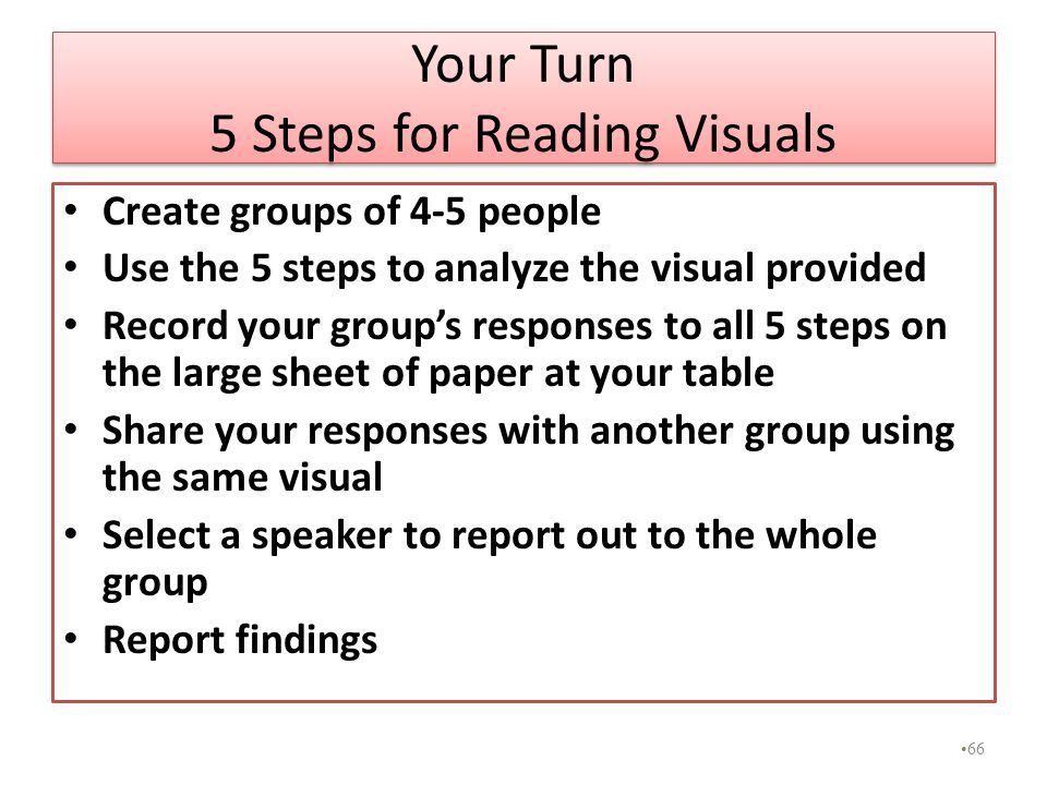 Your Turn 5 Steps for Reading Visuals