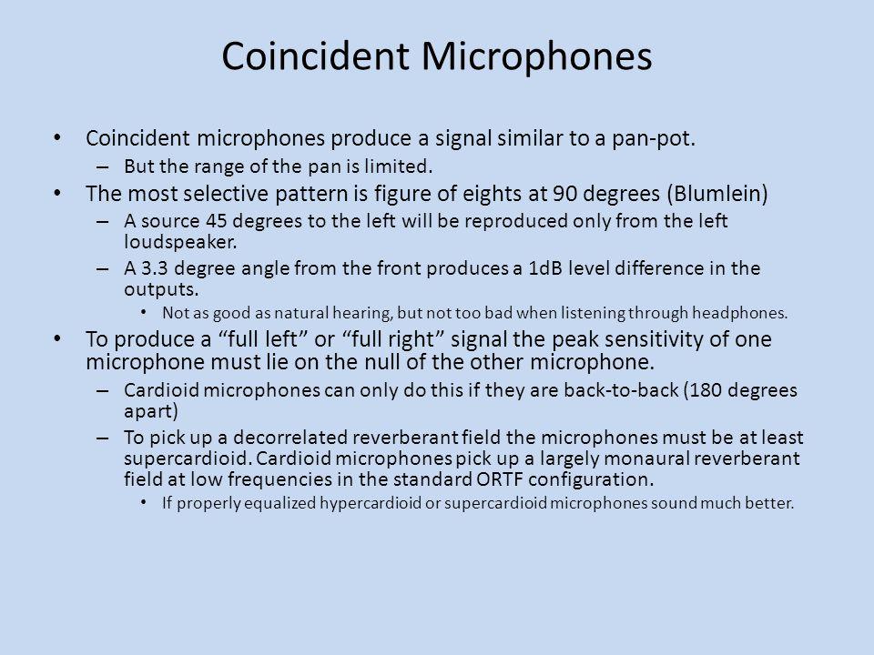 Coincident Microphones