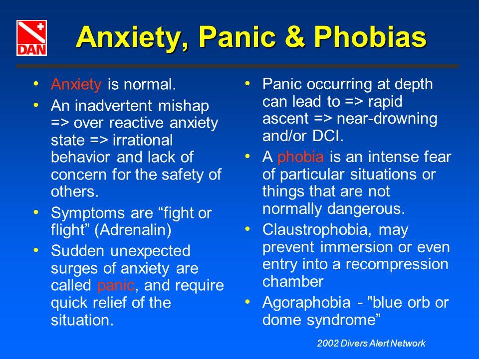 Anxiety, Panic & Phobias