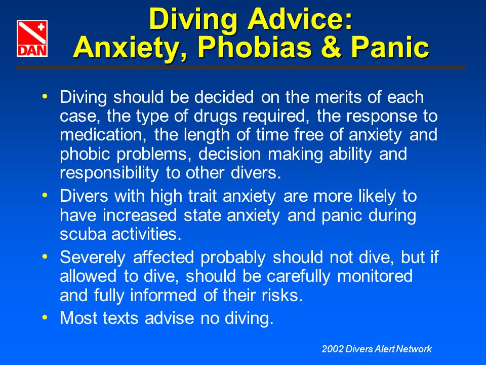 Diving Advice: Anxiety, Phobias & Panic