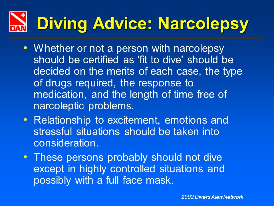 Diving Advice: Narcolepsy