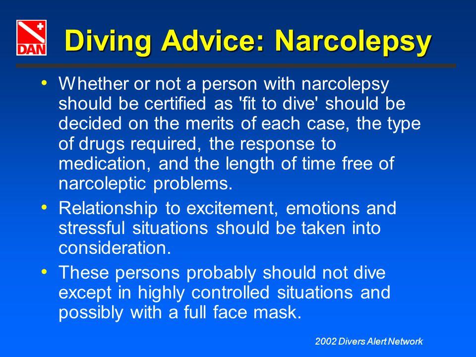 Diving Advice: Narcolepsy