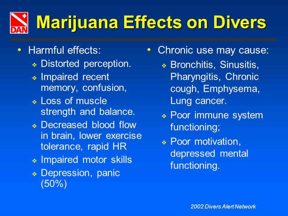 Marijuana Effects on Divers