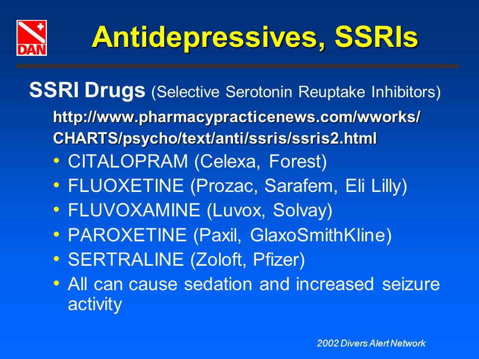 Antidepressives, SSRIs