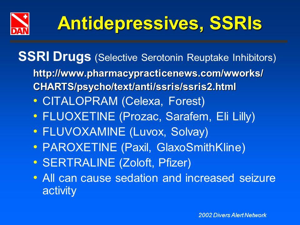 Antidepressives, SSRIs