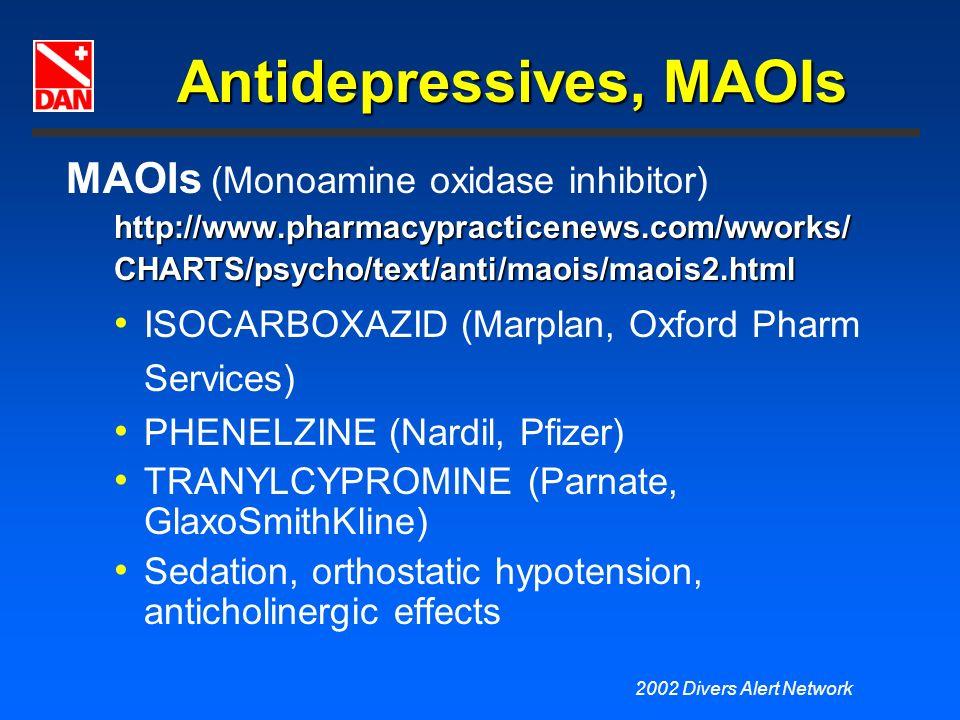 Antidepressives, MAOIs