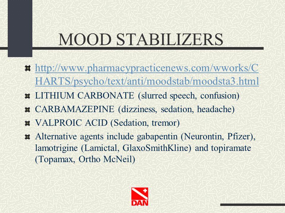 MOOD STABILIZERS http://www.pharmacypracticenews.com/wworks/CHARTS/psycho/text/anti/moodstab/moodsta3.html.