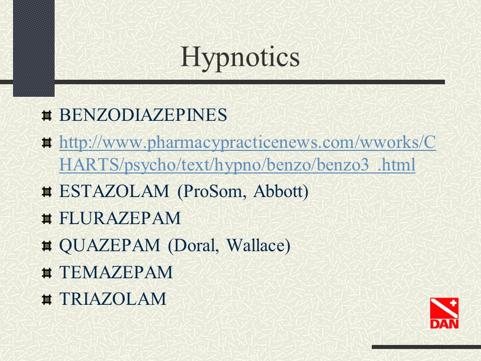 Hypnotics BENZODIAZEPINES