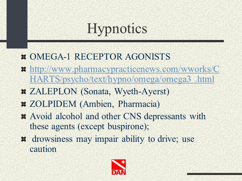 Hypnotics OMEGA-1 RECEPTOR AGONISTS