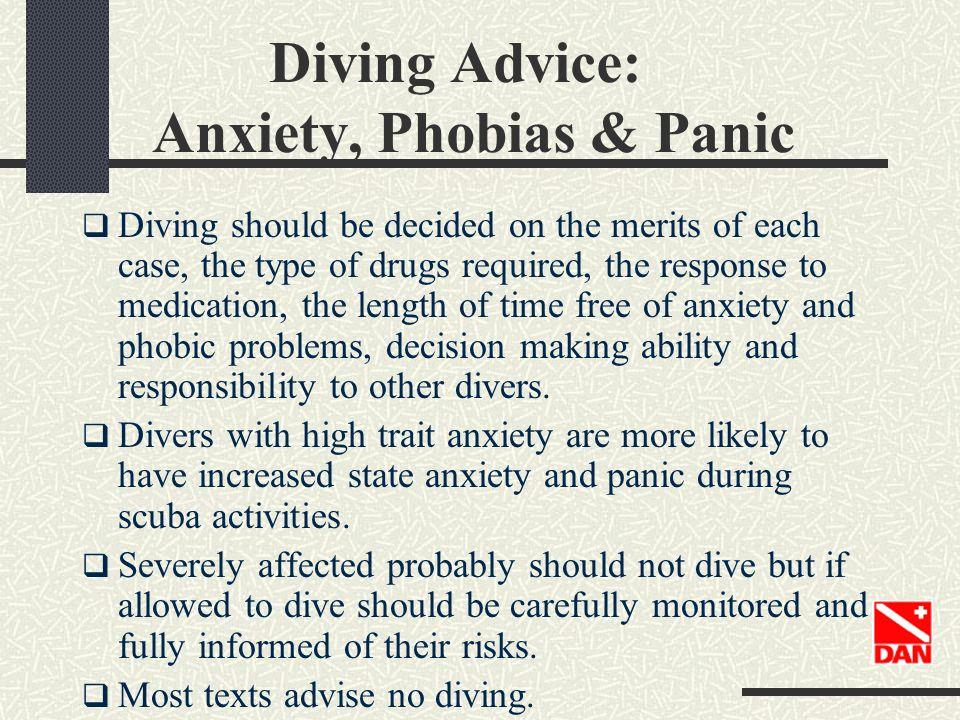 Diving Advice: Anxiety, Phobias & Panic