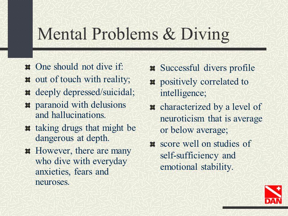 Mental Problems & Diving