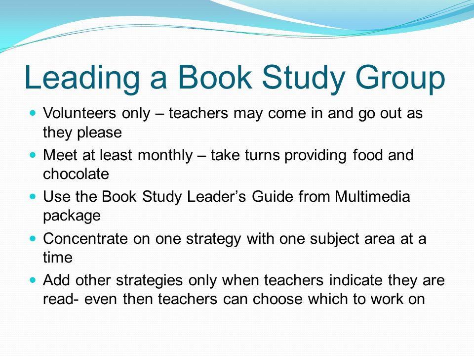 Leading a Book Study Group