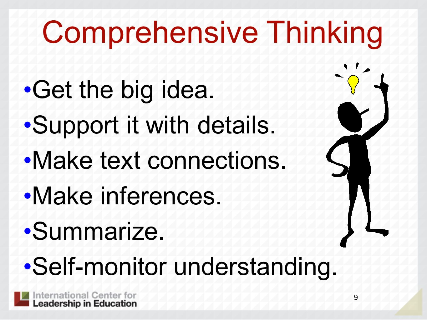 Comprehensive Thinking