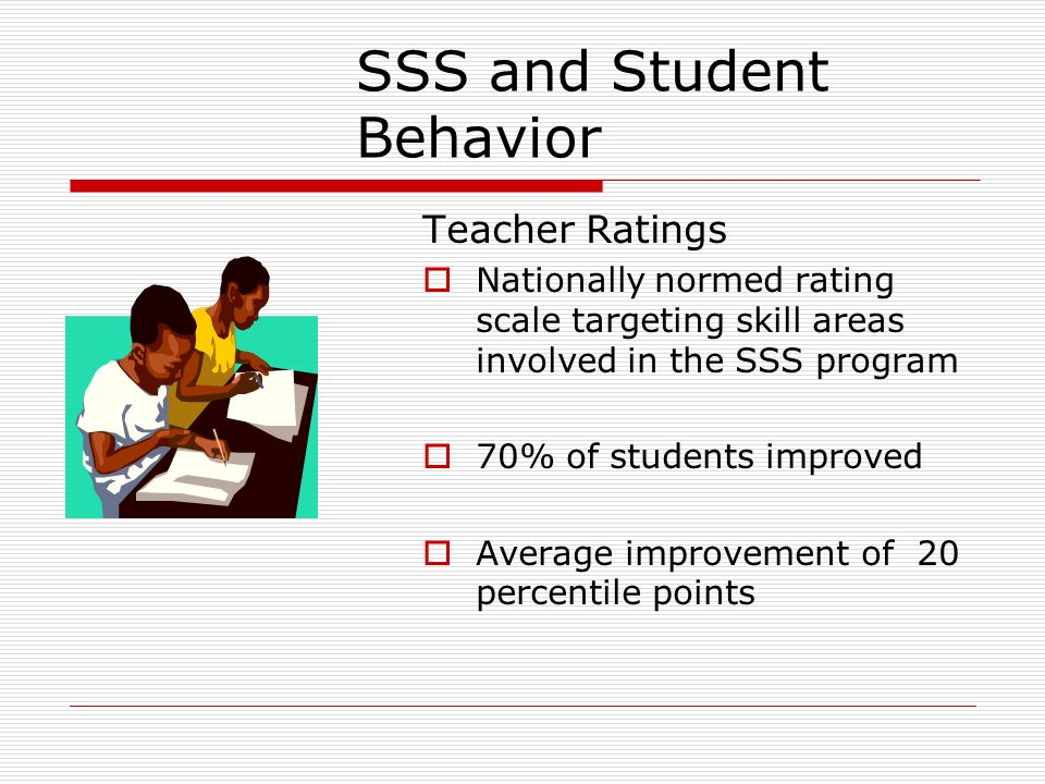 SSS and Student Behavior