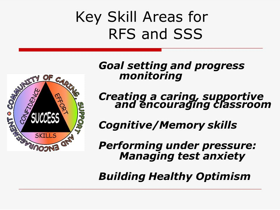Key Skill Areas for RFS and SSS
