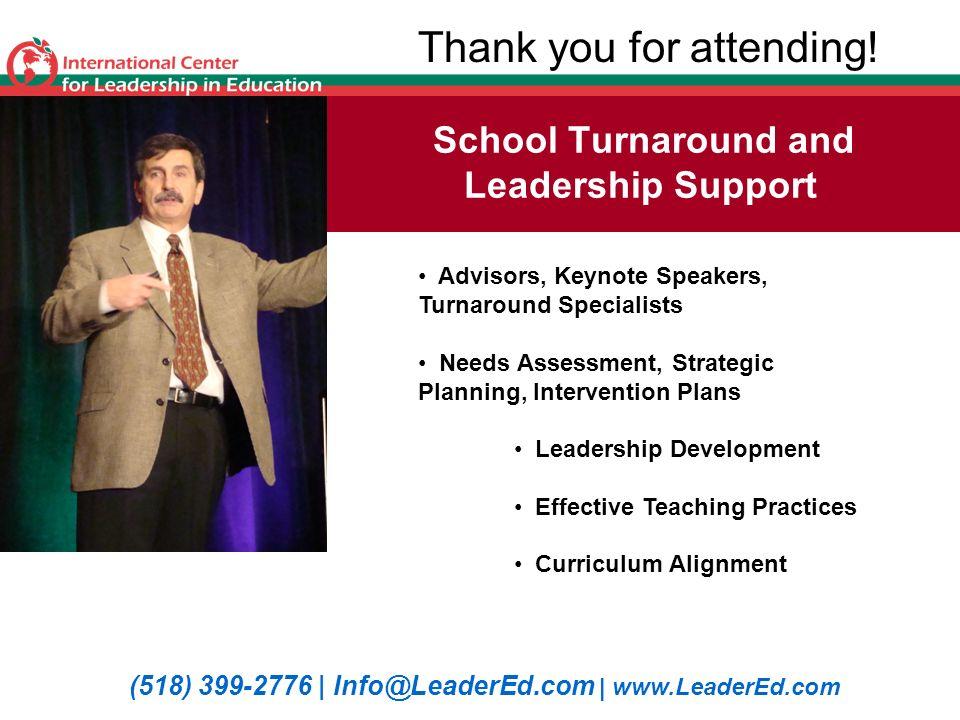 School Turnaround and Leadership Support