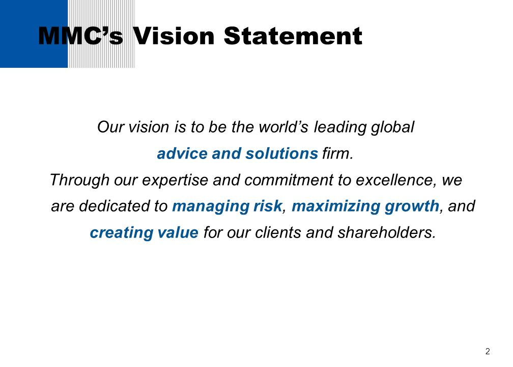 MMC's Vision Statement