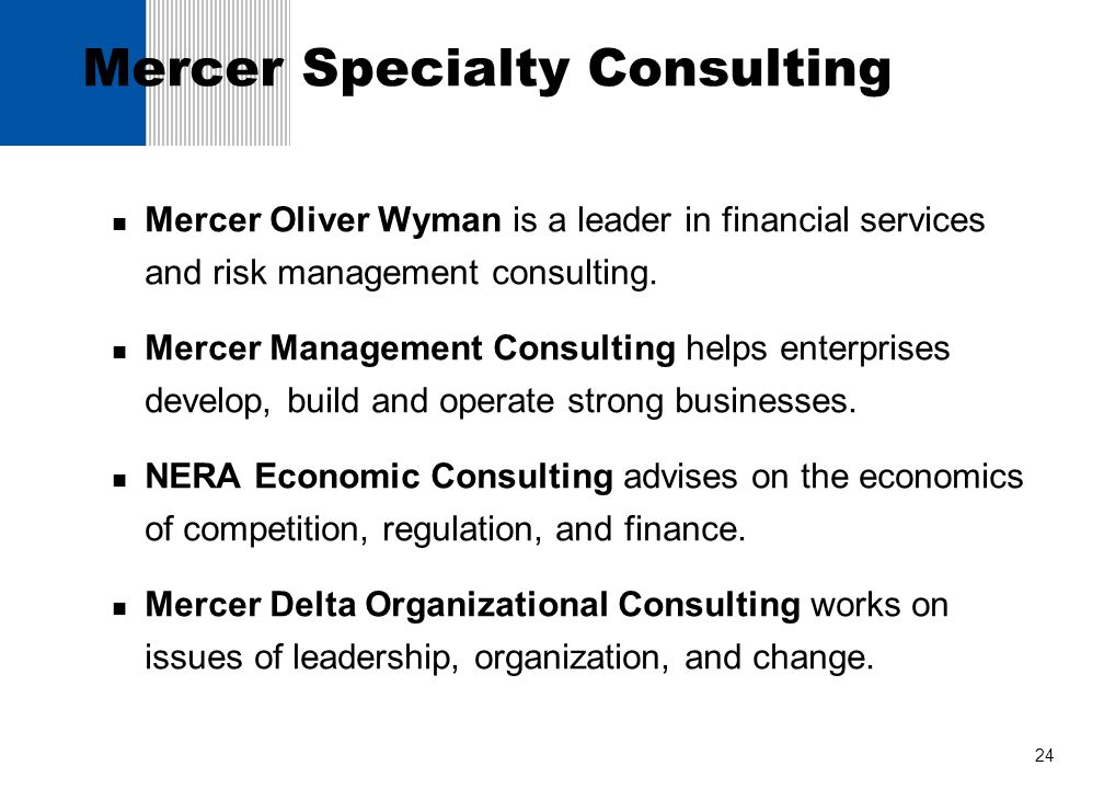 Mercer Specialty Consulting