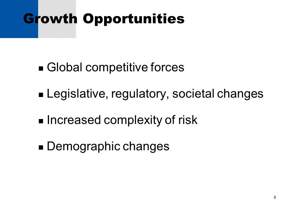 Growth Opportunities Global competitive forces