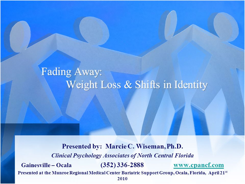 Fading Away: Weight Loss & Shifts in Identity