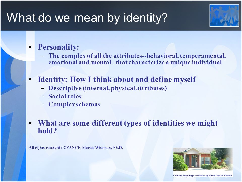 What do we mean by identity