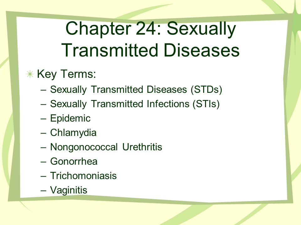 Chapter 24 sexually transmitted diseases and hiv/aids statistics