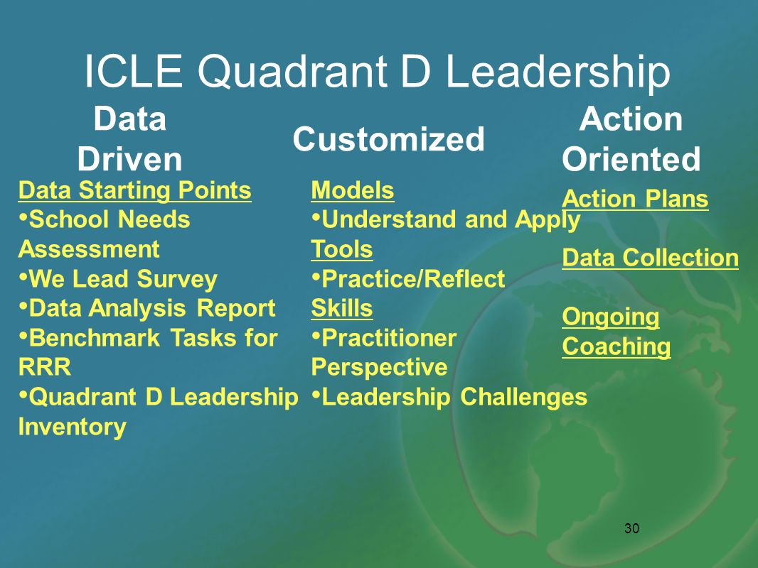 ICLE Quadrant D Leadership