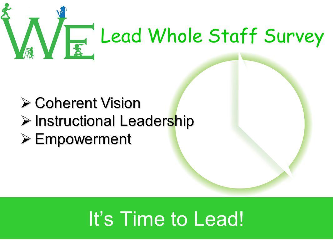 Lead Whole Staff Survey