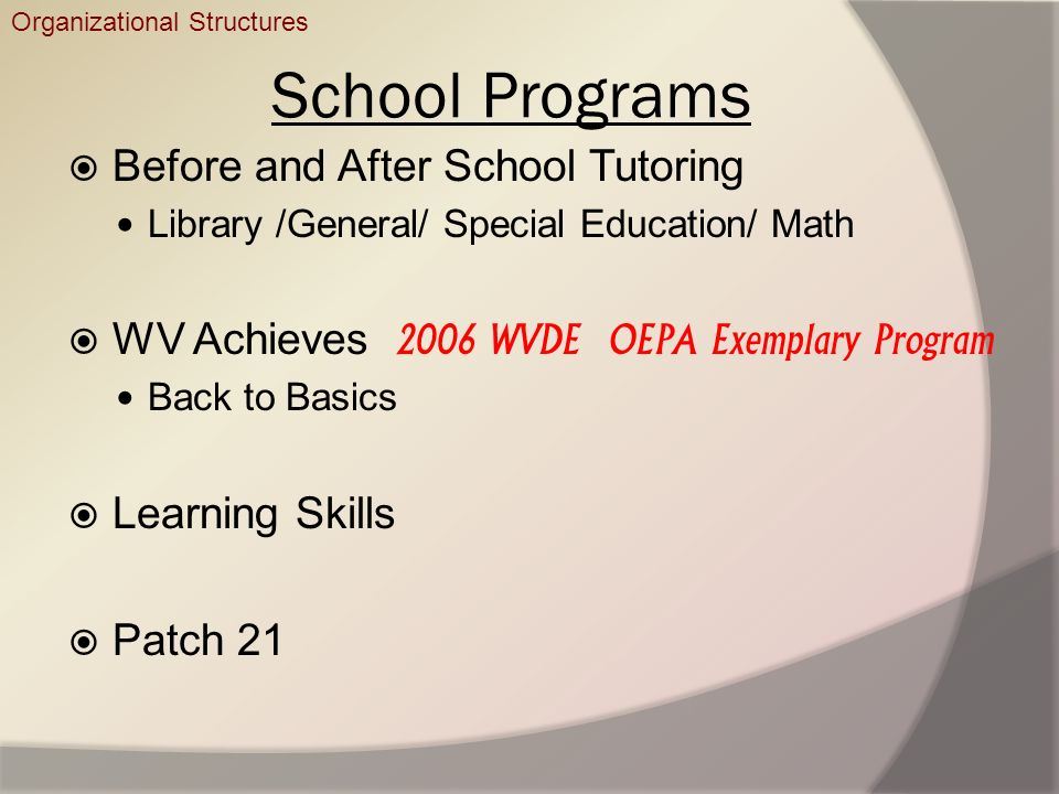 School Programs Before and After School Tutoring